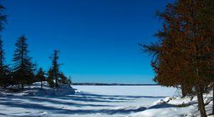 Frozen Lake, Manitoba
